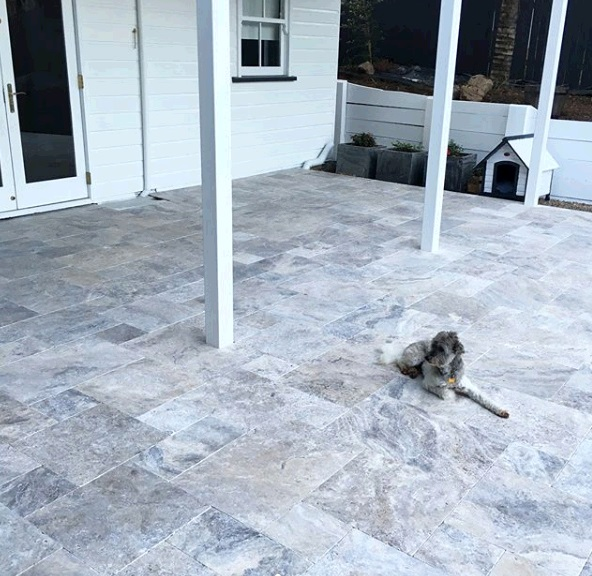 Travertine tile renovation
