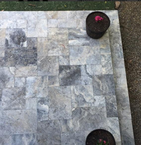 Travertine outdoor tiles