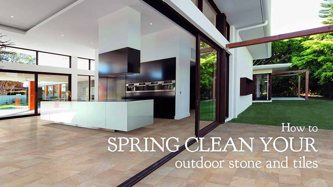How to spring clean your outdoor stone and tiles