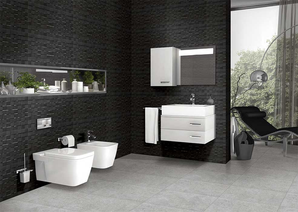 bathroom stone tile