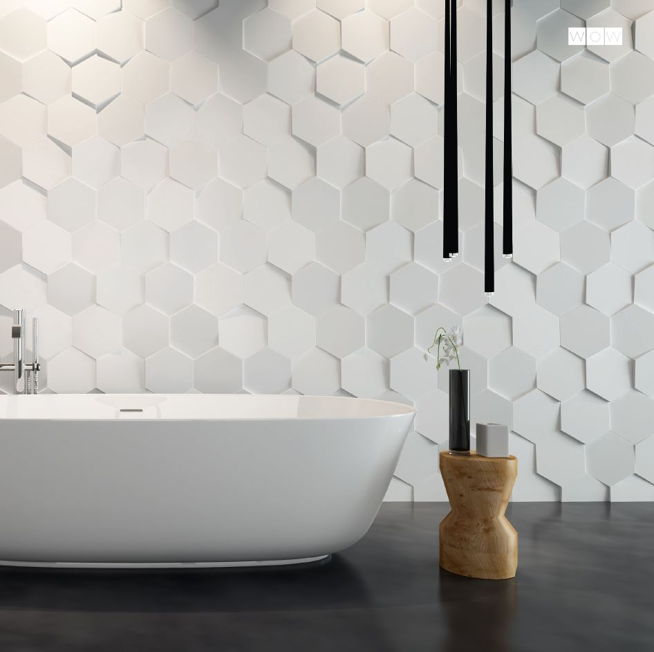 HEXA ICE WHITE IN SITU | Stone & Tile Studio Brisbane