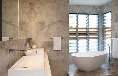 bathroom stone tile