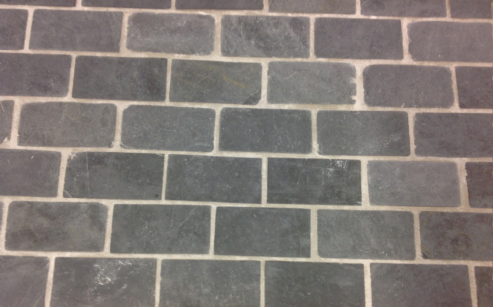 Bluestone Brick Pattern Tumbled Cobbles