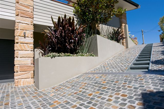 Australian Porphyry Cobble Driveway