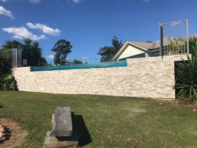 Beige Limestone Pool Feature Edge
