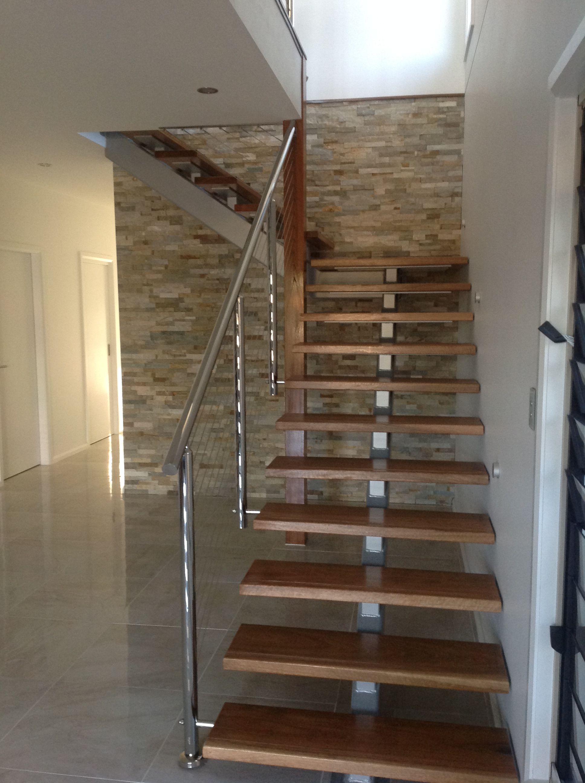 Beige Limestone Staircase Feature