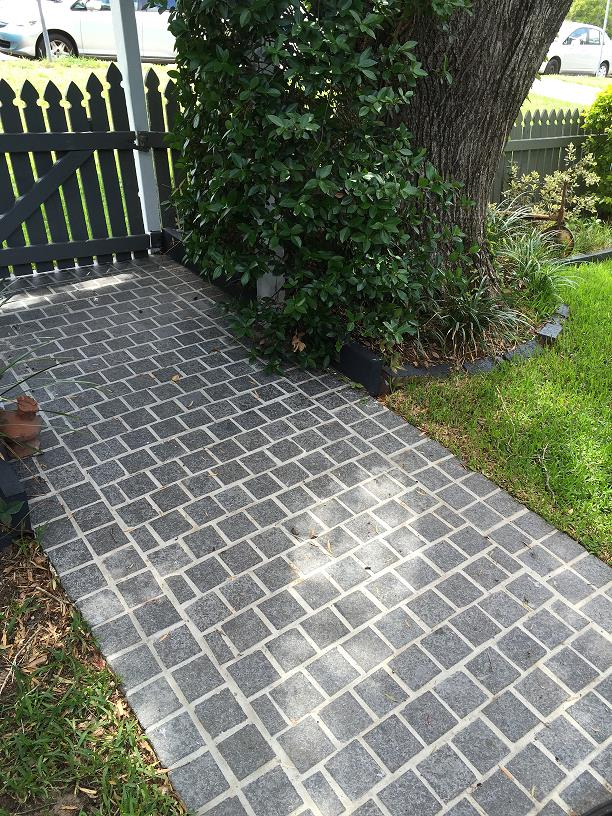 Black Diamond Cobble Pathway