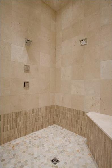 Crema Marfil Modern Bathroom
