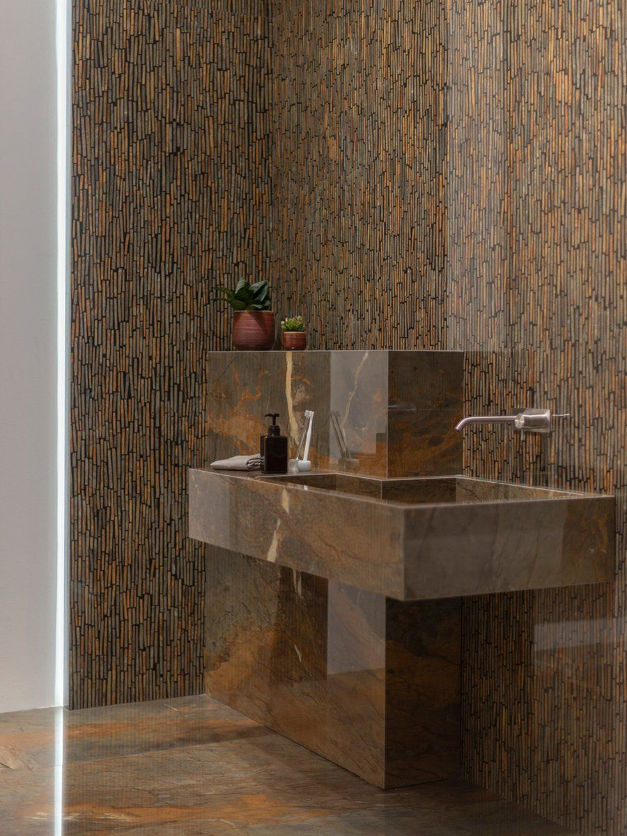 Fossil Brown Bathroom