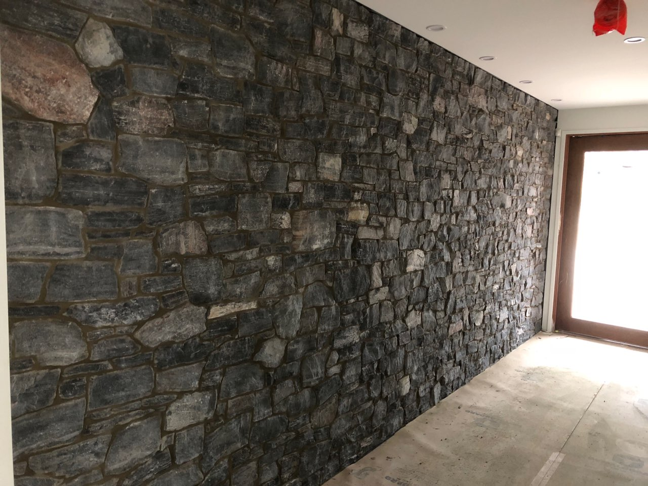 Night Star Random Stone Feature Wall