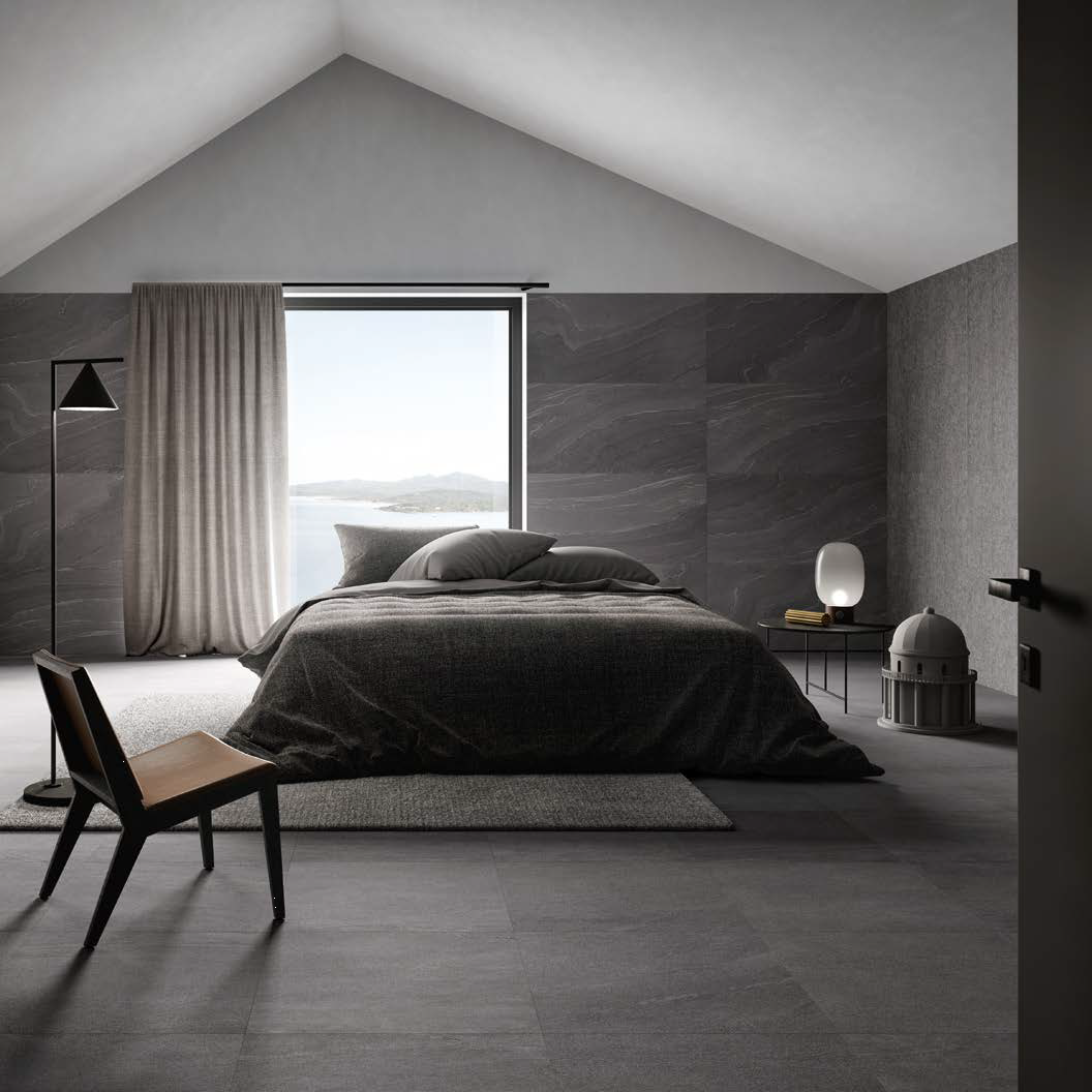 Stonetalk Dark Minimal Bedroom