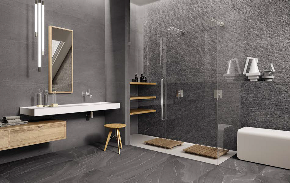 Stonetalk Dark Minimal Bathroom