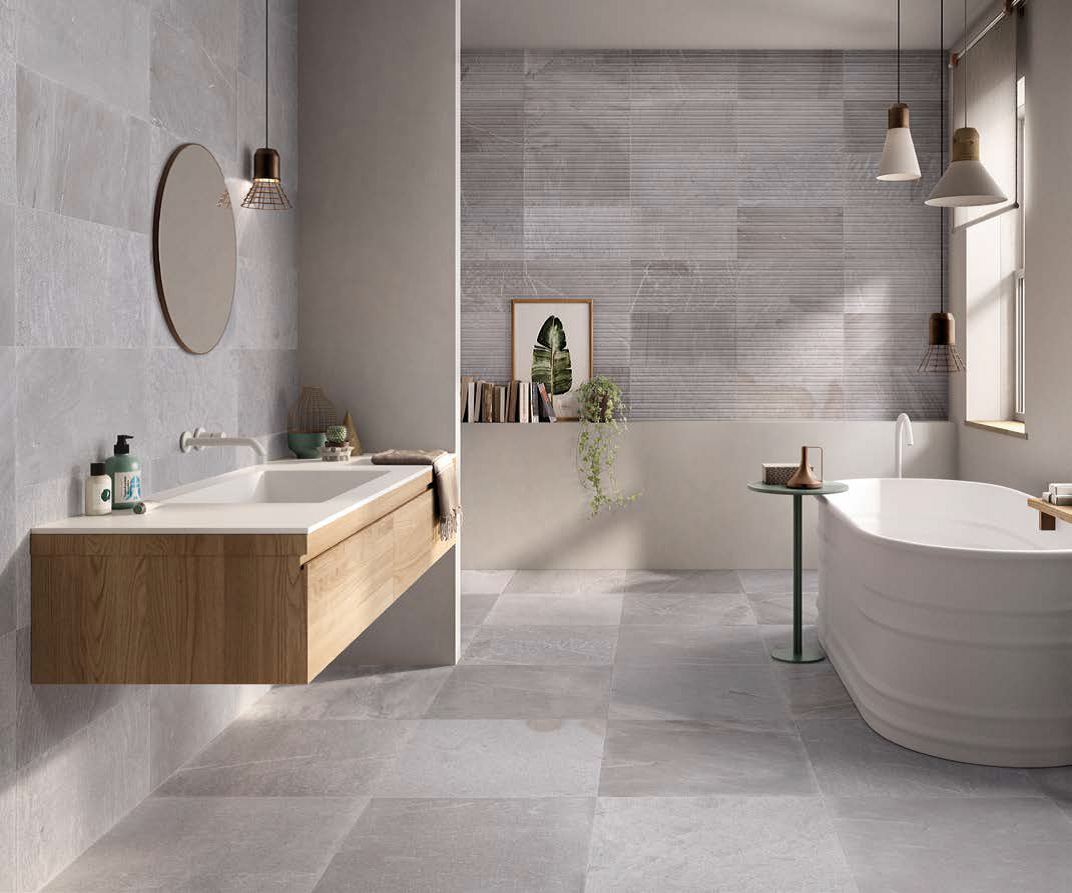 Tracce Grey Bathroom