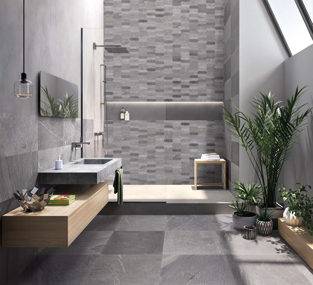 Tracce Dark Grey Bathroom